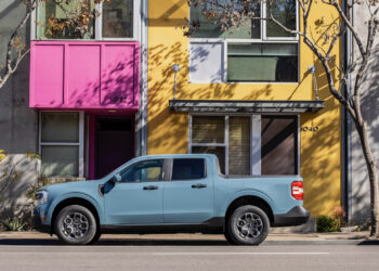 2022 Ford Maverick Hybrid XLT. Preproduction vehicle with optional equipment shown. Available fall 2021.