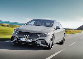 Mercedes-EQ. EQE 350, Edition 1, AMG Line, alpingrau (Stromverbrauch nach WLTP: 19,3-15,7 kWh/100 km; CO2-Emissionen: 0 g/km);Stromverbrauch nach WLTP: 19,3-15,7 kWh/100 km; CO2-Emissionen: 0 g/km*  Mercedes-EQ. EQE 350, Edition 1, AMG Line, alpine grey (electrical consumption WLTP: 19,3-15,7 kWh/100 km; CO2 emissions: 0 g/km);Electrical consumption WLTP: 19,3-15,7 kWh/100 km; CO2 emissions: 0 g/km*